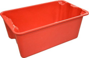 MFG Tray 7804085280 Toteline Nest and Stack Container, Glass Fibre Reinforce Plastic Composite, Capacity 140kg., 50cm x 33cm x 20cm , Red
