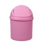 xhorizon TM SR Desktop Mini Plastic Trash Can Countertop Small Trash Can Swing Top Trash Bin