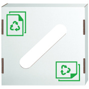 Bankers Box Corrugated Trash and Recycling Bin Cover, Paper Recycling Icon, 10 Each