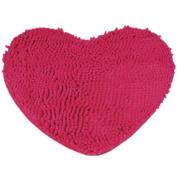 Kingfansion Bedroom Door Mat Heart Shaped Carpet Fluffy Chenille Rug Cushion
