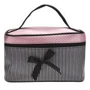 Cosmetic Bag, Bolayu Square Bow Stripe