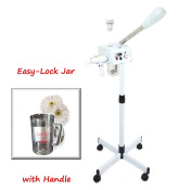 eMark Beauty Rotating Brush Facial Steamer Ozone Aromatherapy & Herbal Skin Care Salon Spa Quality Equipment TLC-8000SB