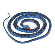 Fake Realistic Looking 120cm Curled Up Rubber Blue Viper Snake