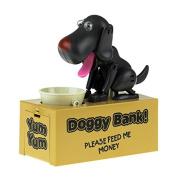 Retro Robotic Doggy Bank Electronic Money Bank - Black