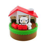 LOBZON My Piggy Bank Robotic Coin Cat Catch Mouse Toy Money Box