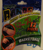 Googly Bands Shaped Rubber Bands - Basketball by Googly