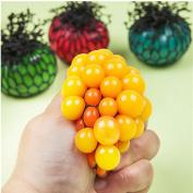 Vivian Anti Stress Mesh Squishy Ball Toy Grape Stress Relief Squeezing Ball Random Colour Dia 5CM