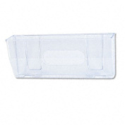 DEFLECTO CORPORATION 50101 Oversized Magnetic Wall File Pocket, Legal/Letter, Clear