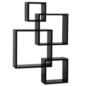 Best Choice Products Intersecting Squares Floating Shelf Wall Mounted Home Decor Furniture