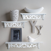 Set of 3 Floating wall shelves, great for books or collections, add design and taste to your room!