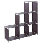 SONGMICS 3-tier Storage Cube Closet Organiser Shelf 6-cube Cabinet Bookcase Dark Brown ULSN63Z