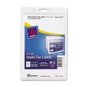 Avery Self-Adhesive Removable Labels, 2.5cm x 3.8cm , White, 500 per Pack
