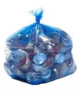 ToughBag, Blue Recycling Bags, 33x39, 124.9l 100/case, 1.2 Mil