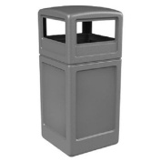 Commercial Zone Square Waste Container with Dome Lid Polyethylene 159l Grey