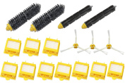 SHP-ZONE 3-Armed Side Brush & Hepa Filters & Bristle Brush & Flexible Beater Brush Pack Kit for iRobot Roomba 700 Series 760 770 780 790 Vacuum Cleaning Robots