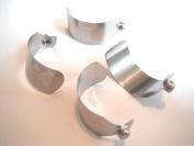 Four (4) Rainbow vacuum c-clip push-button lock/springs for e-series wand/tube