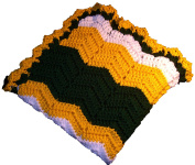 Pro Football Team Colours Yellow, Green, White Blanket Cosy Size 80cm x 80cm