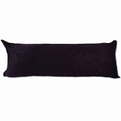 Black Microsuede Body Pillow Cover Pillowcase with Double Sided Zippers 50cm x 120cm