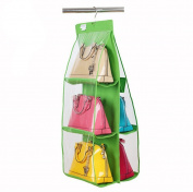 ducomi® Poppins Organiser for Bags with Hanging Hook For Practical Inside The Wardrobe green