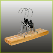 Hagspiel 8x Wooden Clothes Hanger Trouser St. Trouser Hanger with Felt Lining, 25 cm Long x 28 High