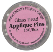 Jeanna Kimball's Foxglove Cottage 150 Glass-Head Applique Pins 2.5cm