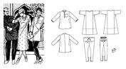 Folkwear Jewels of India Kurta Shirt Kamiz Tunic Churidar Pants Gandhi Hat #135 Sewing Pattern