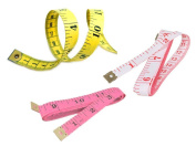 3 pack Measuring Tape Seamstress Tailor Ruler 150cm Long Each(1.5M) Soft Vinyl