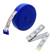 Sell4Style 150cm 1.5 Metre Soft and Retractable Tape Measure Medical Body Measurement