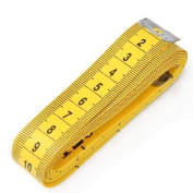 Qingsun Body Measuring Tape Yellow Tailor Craft Flexible Ruler Tape Measure