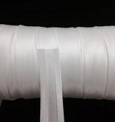 12 yards 1.6cm Single Fold Satin Bias Tape 20 different colours In White