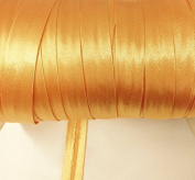 12 yards 1.6cm Single Fold Satin Bias Tape 20 different colours In Golden Yellow