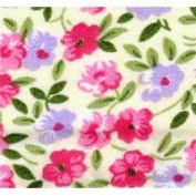 TR20320/2199 Pink/Green/Lilac/Cream Floral Bias Binding 20mm x 25m by Essential Trimmings