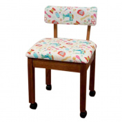 Arrow Sewing Cabinet Craft Room Furniture Wood Fabric Chair Oak White Background by Arrow Sewing Cabinet