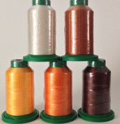 Isacord Embroidery Thread 1000m Fall Kit