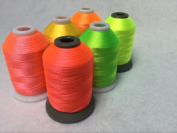Sinbel Polyester Embroidery Thread 6 Neon Fluorescent Colours 1000Meters/1100Yards Per Spool For Brother Babylock Janome Singer Pfaff Husqvaran Bernina Machines