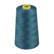 MARKETPLACE MAYHEM Overlocking Thread - Overlocker Thread - Polyester Thread - Industrial Sewing Thread - 4 X 5000 Yard Spools Blue