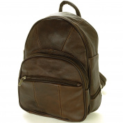 Leather Backpack Purse Mid Size & Convertible into single strap sling Bag or Backpack wearing Multiple Organiser Pockets