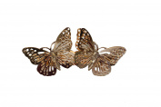 GIZZY® Ladies Girls Gold Colour Butterflies Hair Barrette. Hair Slide.