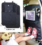 Back Seat Car Travel Organiser With Tablet Ipad Holder and Kick Mat