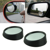 Sixmad(TM) Universal Car 2pcs/Set Driver 2 Side Wide Angle Round Convex Car Vehicle Mirror Blind Spot Auto Rear View Car-Styling