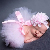 Musuntas Baby Photography Prop Baby Costume Photography Photo Costume Clothing, Pettiskirt Tutu Girls Flower Headband