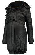 Love2Wait Women's Quilted Maternity Jacket Black Black