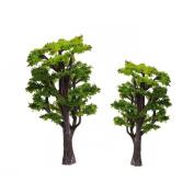 WINOMO 12pcs Model Trees Train Railways Architecture Landscape Scenery Scale 1:50