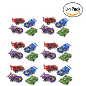 24 Piece 6.4cm Party Pack Assorted Pull Back Racing Cars. - Fun Gift Party Giveaway