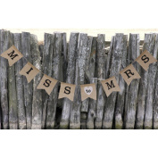 Generic Miss to Mrs Natural Burlap Banner for Party Decoration
