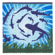 Shark Party Supplies Beverage Napkins