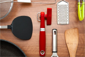 ACE Safety Can Opener - Cut With The Smooth Edge Side Cutting Manual Tin Can Opener. Red Round Handle Designed To Fit In Your Palm. Coupled With Rubberized Knob For A Firm Grip.