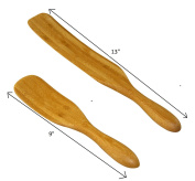 The Original Bamboo Spurtle Set Ultra Versatile 2 piece set by Crate Collective