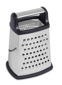 Internet's Best Stainless Steel Box Grater | 4 Sided Grater and Slicer | 22cm | Hand Shaver for Cheese Fruit Vegetable Root Nuts | Non-Slip Bottom