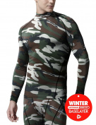 Tesla Men's Thermal WinterGear Compression Baselayer Mock Long Sleeve T Shirts T32 / T42 / TX2 / G32